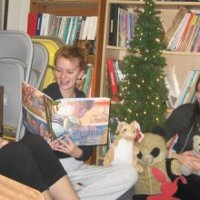 Adult Ed students read Velveteen Rabbit aloud and relate the story to their own childhood companions.